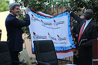 Kerry actively supported an independence referendum in South Sudan, January 2011