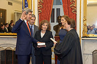 John Kerry is sworn in as Secretary of State by Justice Elena Kagan, February 1, 2013
