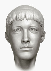 A forensic facial reconstruction of Grand Duchess Anastasia by S. A. Nikitin, 1994