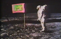The first images shown on MTV were a montage of the Apollo 11 moon landing