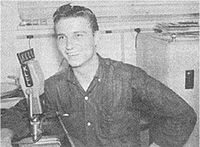 Jennings during a broadcast of his show on KLLL in 1958