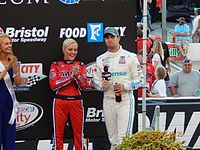 Hamlin at Bristol Motor Speedway for the Food City 300