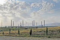 The TadAZ aluminium smelting plant, in Tursunzoda, is the largest aluminium manufacturing plant in Central Asia, and Tajikistan's chief industrial asset.