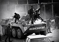 Spetsnaz soldiers during the civil war, 1992