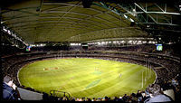 Interior of Docklands Stadium with the roof closed in 2005