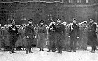 The 2nd Moscow Women Death Battalion protecting the Winter Palace as the last guards of the stronghold.