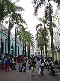 A pedestrian mall by the Central Market.