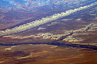 Bluff, Utah and Comb Ridge from the air.