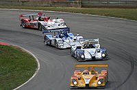 A group of Le Mans Prototypes competing in the American Le Mans Series, 2007