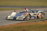 The dominant entry in the short-lived LMP675 class, the MG-Lola EX257.
