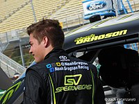 Gragson prior to the 2016 Ford EcoBoost 200