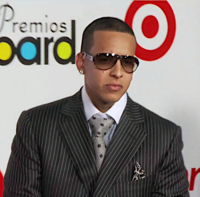 Daddy Yankee at 2009 Latin Billboard Music Awards red carpet. He was honored with the Spirit of Hope Award for his humanitarian achievements that night.