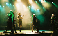 Subway to Sally, seen here performing live at the 2005 Sundstock Openair, has been credited as setting off medieval metal.