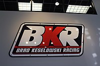 Brad Keselowski Racing's logo. This sign greets visitors as they enter the team's Statesville, NC race shop.