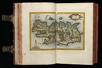 A map of Iceland published in the early 17th century by Gerardus Mercator