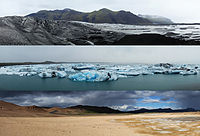 Three typical Icelandic landscapes