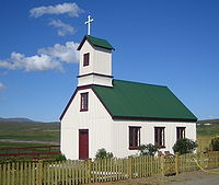 A church in the northwest of Iceland