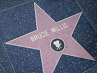 Willis's star on the Hollywood Walk of Fame