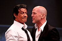 Willis with The Expendables co-star Sylvester Stallone, 2010