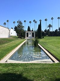 Fairbanks' tomb at Hollywood Forever