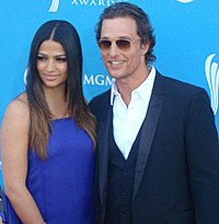 McConaughey and his wife, Camila Alves, in 2010