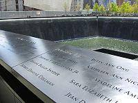 The names of Flight11's crew are on Panel N-74 of the National September 11 Memorial's North Pool. The passengers' names are on that panel and four other adjacent ones.