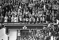 The Royal Box in April 1986. Trophy presentations took place here.