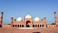 Badshahi Masjid, Lahore, Pakistan was the largest mosque in the world for 313 years, and is now the second-largest mosque in the Indian subcontinent.