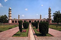The Tomb of Jahangir at Lahore does not have a dome as Jahangir forbade construction of a dome over his tomb.