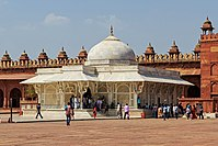 The tomb of Shaikh Salim Chisti is considered to be one of the finest examples of Mughal architecture