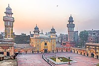 Wazir Khan Mosque in Lahore, Pakistan, is considered to be the most ornately decorated Mughal-era mosque