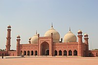 Badshahi Mosque, in Lahore, Pakistan was the largest mosque in the world for 313 years, and is the last of the imperial mosques built by the Mughals