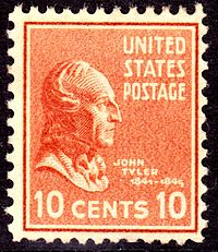 Tyler on a U.S. postage stamp, Issue of 1938