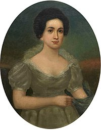 An oil portrait of Tyler's first wife, Letitia Christian Tyler, by an unknown artist