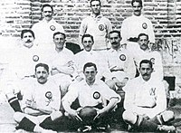 Real Madrid team in 1906. The club won its second Copa del Rey that year.