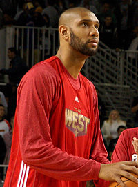 Duncan as an All-Star for the West, 2011