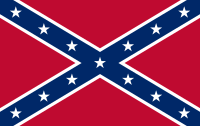 This Confederate Flag pattern is the one most often thought of as the Confederate Flag today; it was one of many used by the Confederate armed forces. Variations of this design served as the Battle Flag of the Armies of Northern Virginia and Tennessee, and as the Confederate Naval Jack.