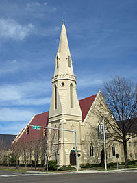 St. John's Episcopal Church in Montgomery, Alabama, established in 1834. The church building was completed in 1855. The Secession Convention of Southern Churches was held here in 1861.