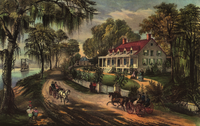 A Home on the Mississippi, Currier and Ives, 1871