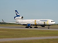 Finnair McDonnell Douglas MD-11 decorated with Moomin characters
