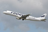 An Embraer 190 operated by Nordic Regional Airlines.