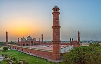 Badshahi Mosque was commissioned by the Mughals in 1671. It is listed as a World Heritage Site.
