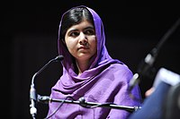 Malala Yousafzai at the Women of the World festival in 2014.