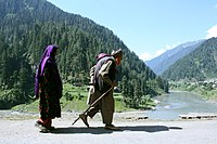 People in traditional clothing in Neelum District