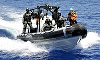 VBSS action carried by a boarding team of the frigate NRP Bartolomeu Dias of the Portuguese Navy