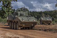 Portuguese Army's Pandur armored vehicles