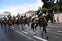 Changing of the GNR guard of the Presidential Palace