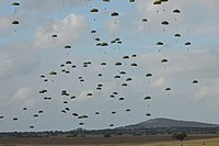 Mass drop of Portuguese paratroopers, which will continue to be an important component of the Portuguese Immediate Reaction Force (FRI)