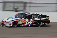 Tony Stewart won the pole position with a time of 29.787