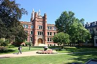 Haydn Hall on the campus of Case Western Reserve University (Flora Stone Mather Quadrangle) in Cleveland.